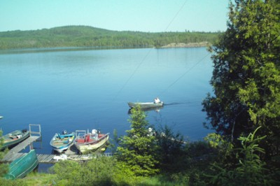 Resort Located On A Remote Island 10 Miles Up Duncan Lake